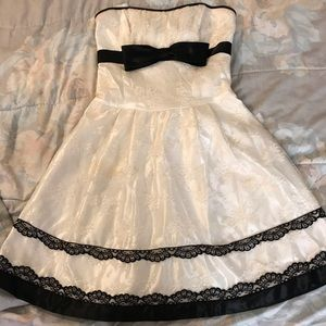 White Laced Prom Dress